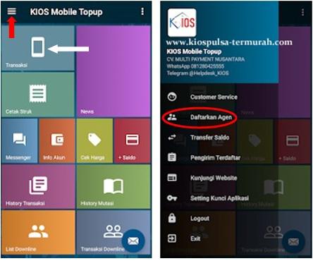 Cara Menggunakan Aplikasi Android Kios Mobile Topup