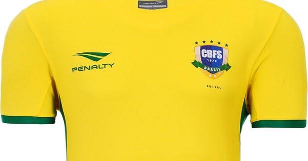 e6eca04676 Penalty volta a patrocinar a Seleção Brasileira de futsal - Show de Camisas