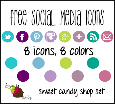 8 Free Social Media Icons in 8 Colors