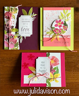 3 Blissful Blooms Alternative Cards ~ Paper Pumpkin August 2018 ~ Stampin' Up! ~ www.juliedavison.com