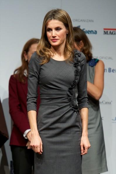 Crown Princess Letizia of Spain attends Premios Magisterio 2012 at Caixa Forum in Madrid