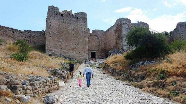 On the hard trek to the Fortress of Ancient Corinth Photo by Greeker than the Greeks