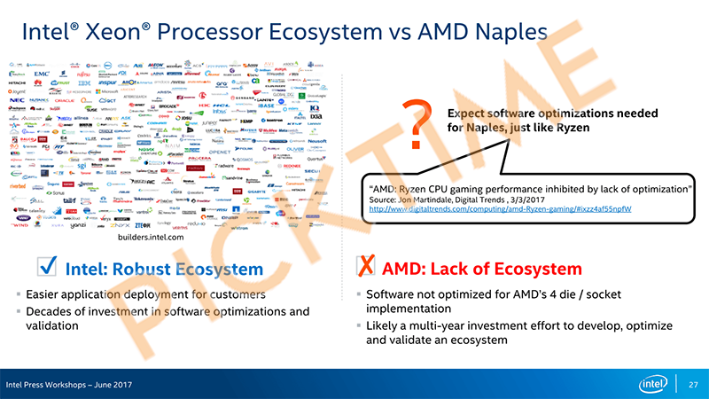 "Intel ""subisce"" la potenza di AMD e punta tutto sul marketing (in maniera scorretta)"