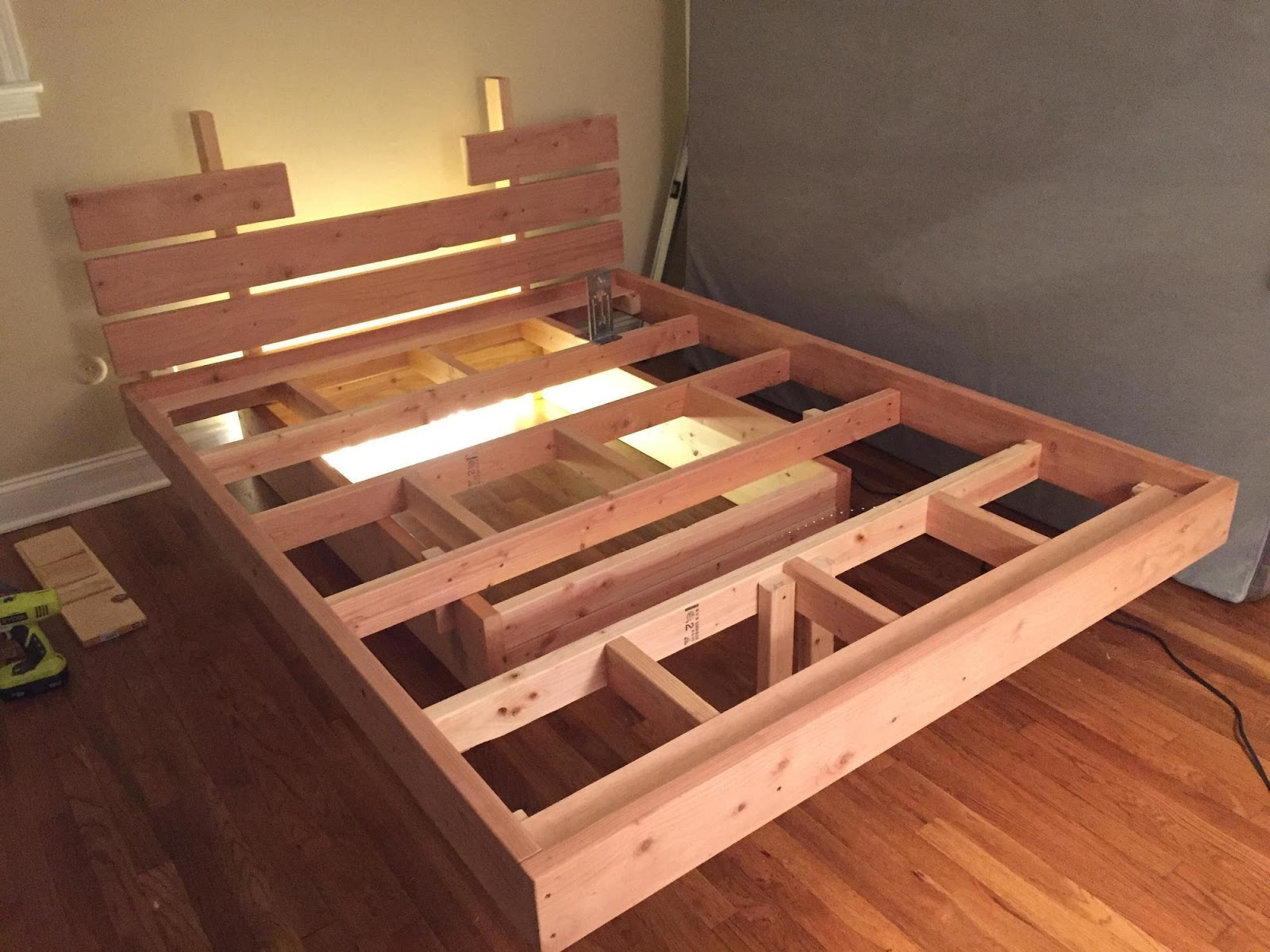 diy floating bed project for your room
