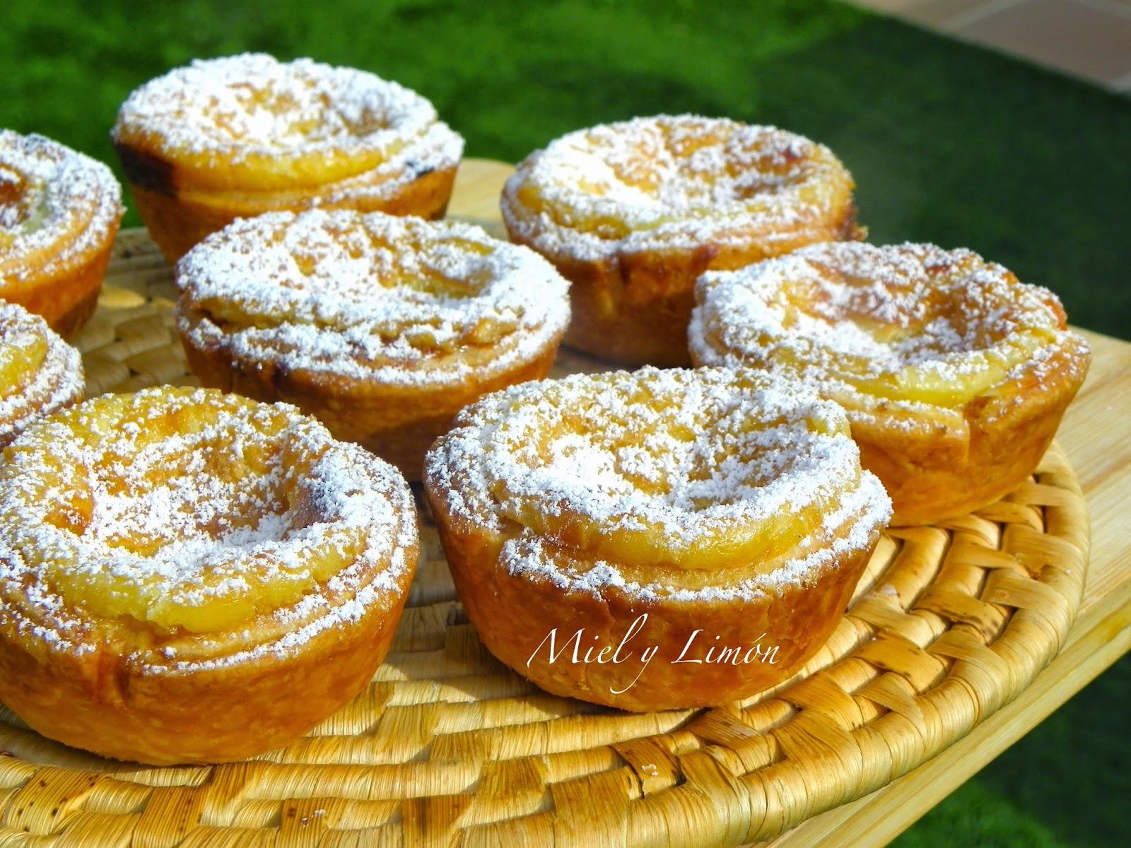 Miel y lim n past is de belem o pasteles de nata - Nata para cocinar mercadona ...