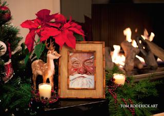 Portrait of Santa by Boulder artist Tom Roderick