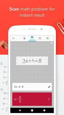 برنامج حل مسائل الرياضيات فوتو ماث Photomath للاندرويد والايفون