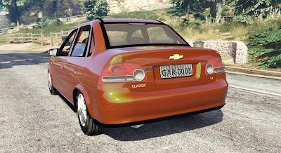 Chevrolet Classic para GTA 5 - Tras