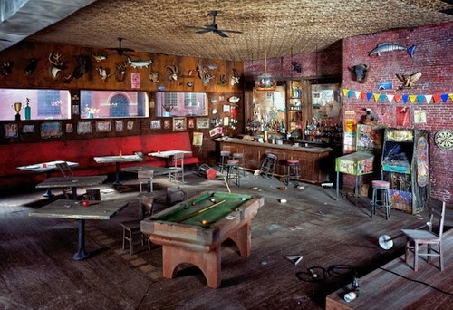 11-Bar-Pub-with-Pool-Table-Photographer-Lori-Nix-Model-Making-Painting-Photography-www-designstack-co