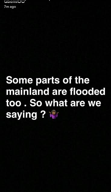"""""""Your inferiority complex is showing"""" - OAP Gbemi scolds mainland residents mocking those living on the Island affected by floodwater"""