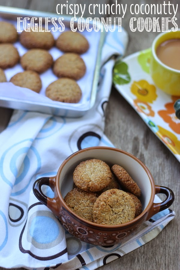 Recipe for One Bowl Healthy Coconut Cookies