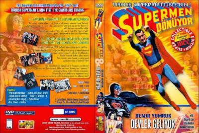 Carátula dvd: Superman turco (1979) (Süpermen dönüyor)