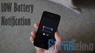Cara Mengganti Notifikasi Baterai Laptop Yang Habis / Low