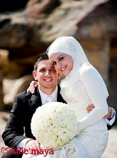 robe de mariée hijab