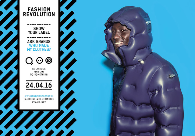 fashion revolution week 2016 blue poster fraukirschvogel