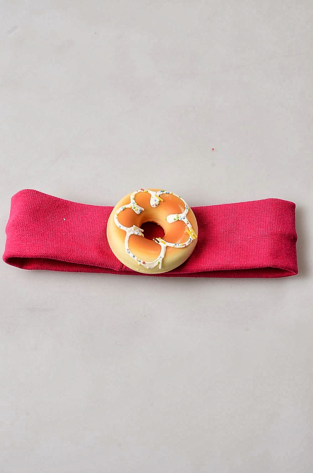 Bebek Saç Bandı, Sade Donut Bebek Bandı-Fuşya