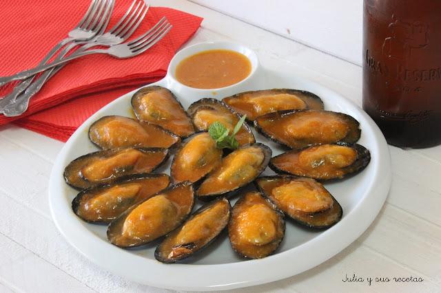 Mejillones en salsa picante. Julia y sus recetas