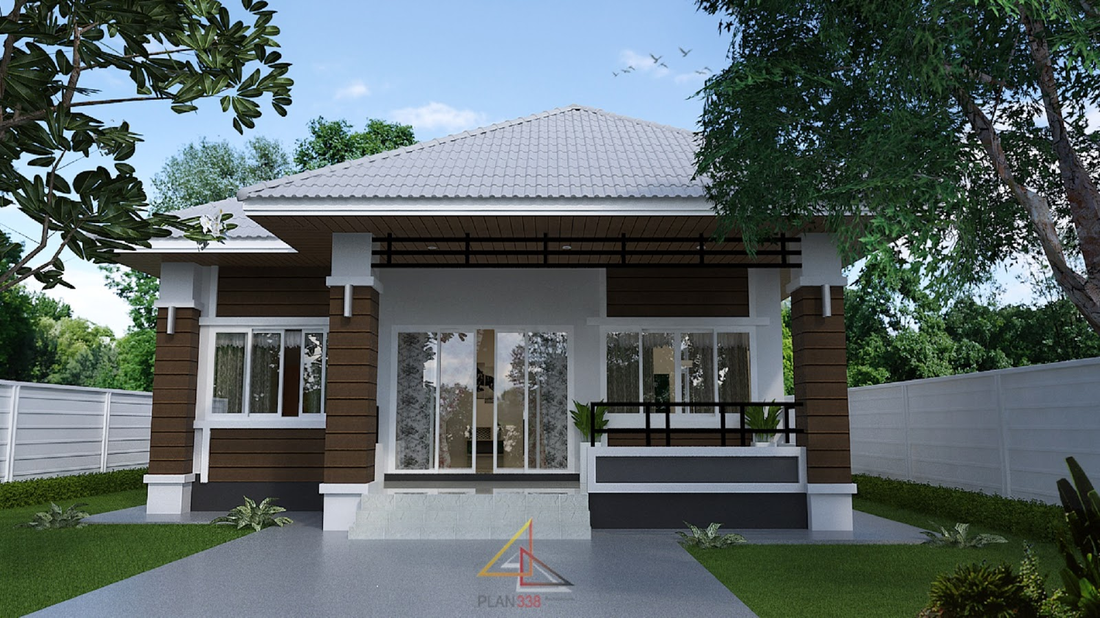 When it is time to build a house for your own family, it is important to consider their needs and get as many ideas you can for your plan. For a family with two or more children, a house with three bedrooms can be considered perfect or ideal family home. How about the design of the house? Do you love a spacious so that you and your family can freely move around? Aside from being a comfortable home, we also want a house with a timeless design so it will remain stylish for a long period of time right?  If you are looking for that kind of house, you may get some ideas in this post! We compiled 22 houses with floor plans designed to have two to three-bedrooms to meet the needs of the family. All are projects of ubon338.com in Thailand.