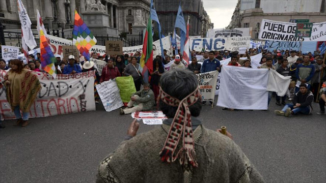 Mapuches en Argentina rechazan desalojo de sus tierras