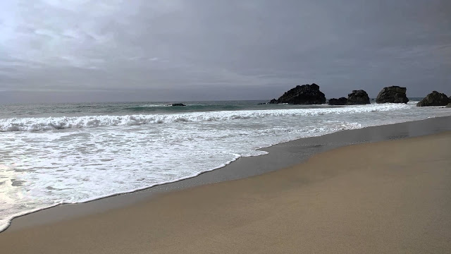 Adraga Beach in Sintra, Portugal