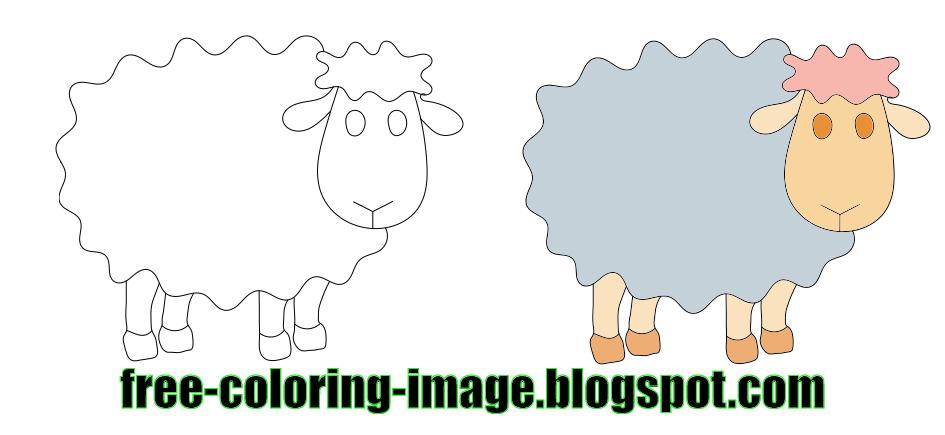 Sheep Coloring Sheet