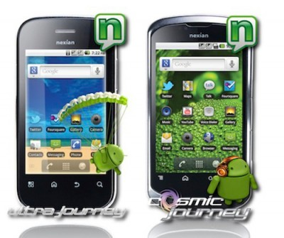 cell phone news nexian release 2 android phone 3 touch screen