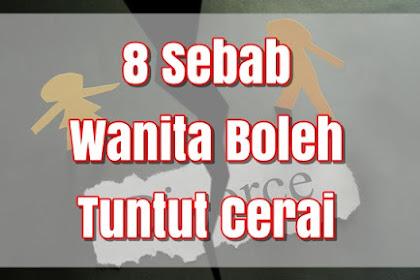 8 Sebab Wanita Boleh Tuntut Cerai