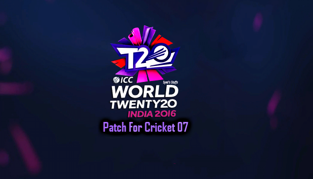 ICC World T20 2016 Patch For Cricket 07 - Syed Shan
