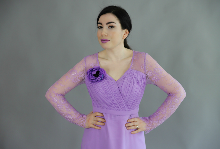 Lila Dantel Gece Elbisesi-moda blogu-fashion blogger-lilac prom dress-everpretty