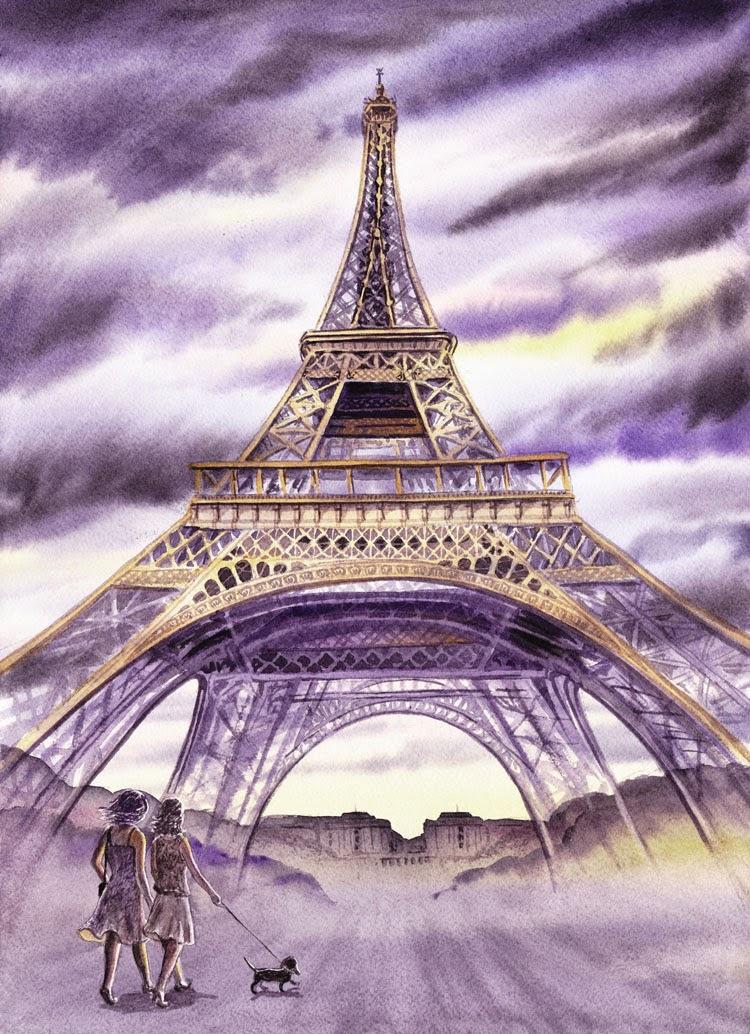 Attractive Artist Illustrator Irina Sztukowski : Eiffel Tower - Walking The  MG56