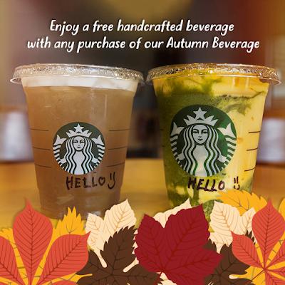 Starbucks Malaysia Frappuccino Autumn Beverage Buy 1 Free 1 Promo