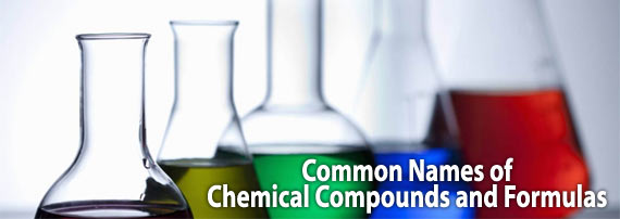 Important Names of Common Chemical Name & Formula