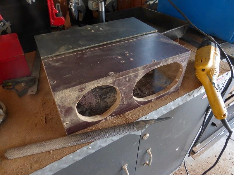 filing speaker holes
