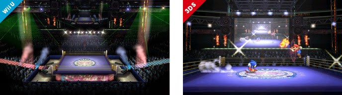 Boxing Ring stage from Punch Out for Smash Bros WiiU and 3DS