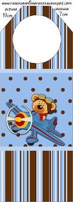 Uçakta Ayıcık Temalı Doğum Günü, Ücretsiz Uçak Temalı Doğum Günü Seti