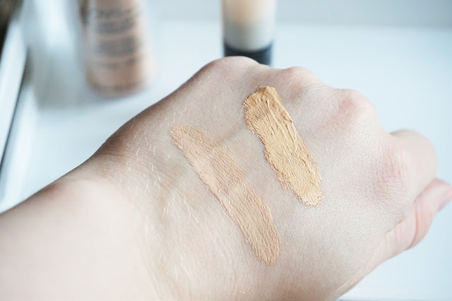 L.O.V Cosmetic LOVtime 18H Long Lasting Foundation in 010 Ivory Elegance, COVERstory Serum Concealer in 010 Silky Nude Swatch