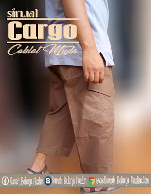 Sirwal Cargo Twill Coklat Muda