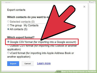 Export and Import Contacts Between Gmail Account
