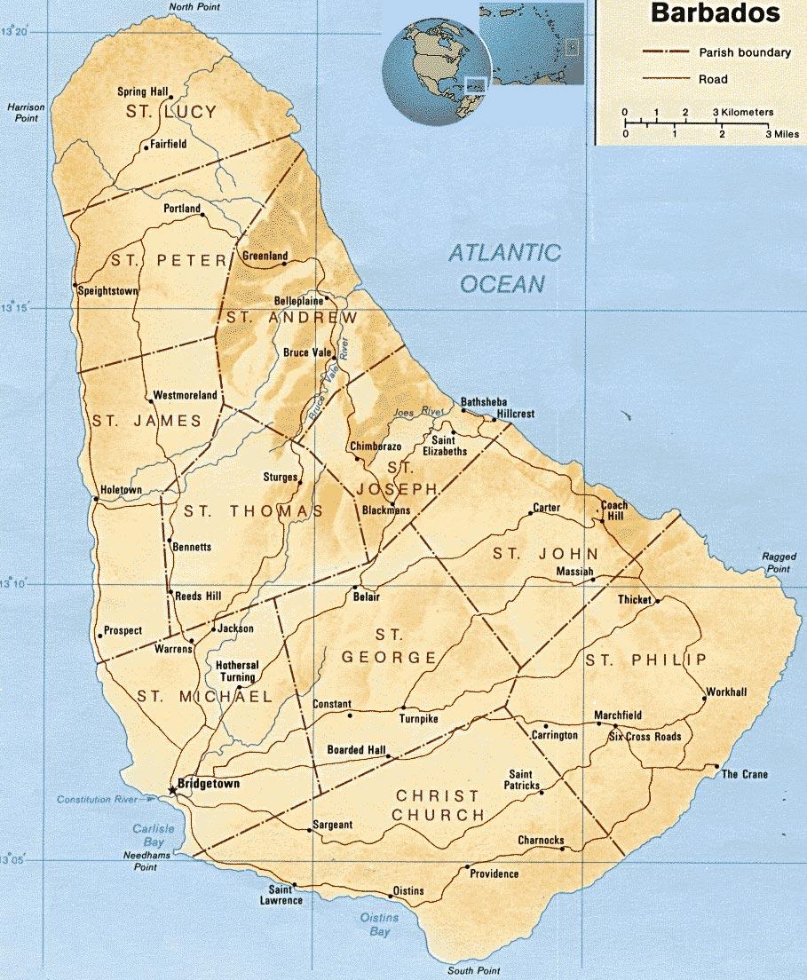 Barbados | Mapas Geográficos de Barbados