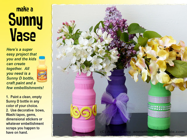 Annie Lang shares a DIY Sunny Vase project made from a Sunny D Bottle