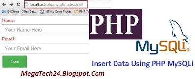 php mysqli insert data into database