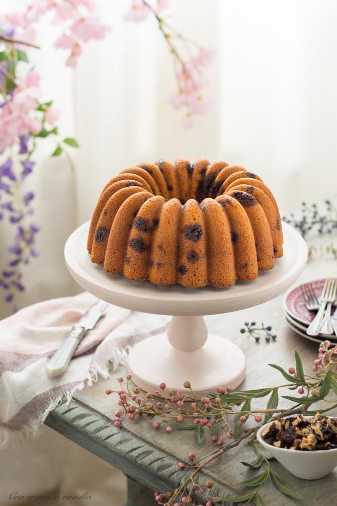 Bundt cake nueces garrapiñadas