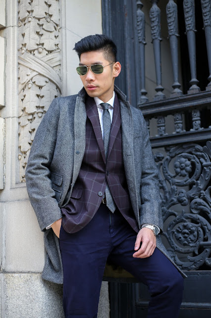 Leo Chan, Levitate Style menswear blogger, Michael Strahan sportcoat