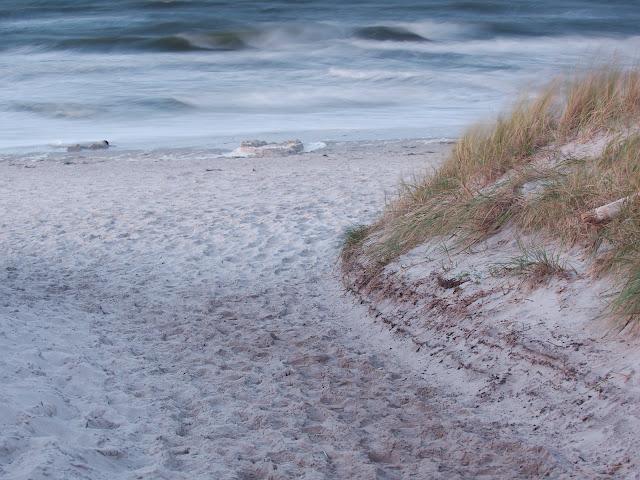 Ein windiger Abend an der Ostsee