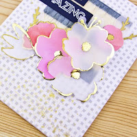 Adding foil to vellum die cuts (toner pen) - Carly Tee