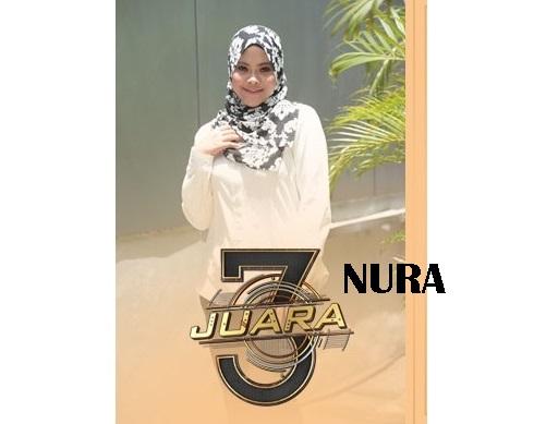 biodata Nura peserta 3 Juara TV3, biodata 3 Juara TV3 Nura, profile Nura 3 Juara TV3 2016, biografi Nura, profil dan latar belakang Nura 3 Juara irama malaysia, gambar Nura 3 Juara TV3