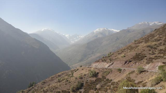 A vista do mirante - Cordilheira dos Andes