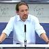 """Pablo Iglesias advierte de que la """"Triple Alianza PP-PSOE y C's"""" no se limita a la investidura de Rajoy"""