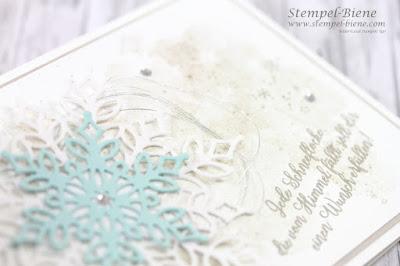 Stampinup; Flockengestöber; Novemberangebot 2018; Schneeflockenstanze; Stempelbiene; Weihnachtsworkshop Recklinghausen
