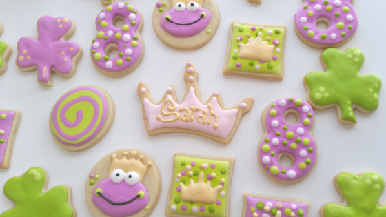 princess Shamrock Cookies
